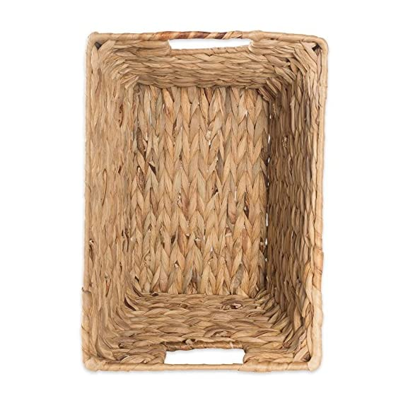 """DII Natural Water Hyacinth Storage Basket with Handles, Beige - SET OF 5 BASKETS: Includes two small (9x7x6""""), two medium (11x9x7""""), and one large (12.6x9x7.88"""") hyacinth baskets HAND-WOVEN: These baskets are hand-woven for that unique charm, so actual sizes may vary slightly SUFFICIENT STORAGE WITH STRONG CONSTRUCTION: Hyacinth storage baskets have a strong woven design with carrying handles for easy carrying - living-room-decor, living-room, baskets-storage - 514 dS4dPDL. SS570  -"""