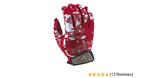 39e429e9024e Amazon.com   adidas Digi Camo Youth Receiver s Gloves White Red X-Large    Sports   Outdoors