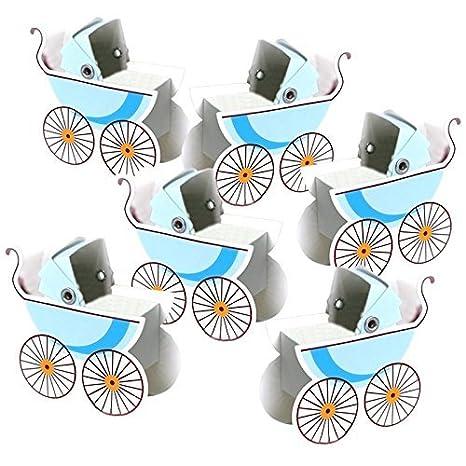 Lote de 50 ornamentos con forma de carro de bebé azul, para decorar ...