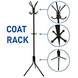 kids coat rack tree - Liverpool Metal Coat Rack Stand – 6' Tall - Use with Jackets, Hats, Scarves, Purses, Suits, Umbrellas and Backpacks - Entryway Coat Rack Hat Hanger