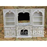 Dollhouse miniature furniture 1/12 scale luxury White hand painted fireplace and wall