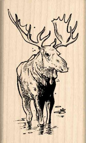 Moose Rubber Stamp - 1-1/2 inches x 2-1/2 inches