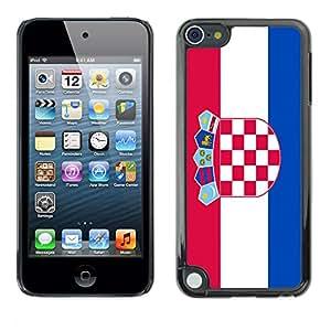 - Flag - - Monedero pared Design Premium cuero del tir¨®n magn¨¦tico delgado del caso de la cubierta pata de ca FOR Apple iPod Touch 5TH GEN Funny House