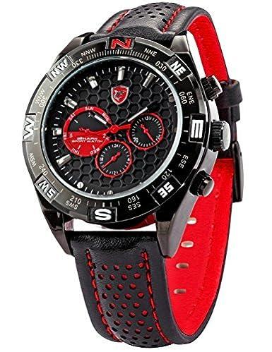 Shortfin Shark Deportivos Relojes De Pulseras Hombre Acero inoxidalbe Día Fecha SH080: Amazon.es: Relojes