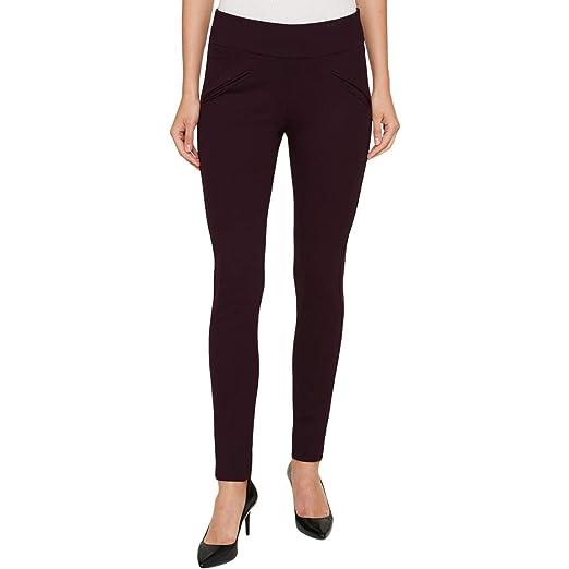 7b30dda579c5b Tommy Hilfiger Women Ponte-Knit Compression Leggings Purple 10 at ...