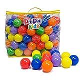 PoPo Kids Pack of 200 Balls, Phthalate Free BPA Free, Crush Proof Plastic Ball, Pit Balls, Durable Storage Mesh Bag with Zipper (PoPo Kids)
