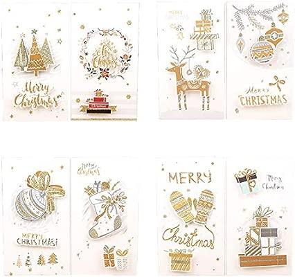 Chytaii 8pcs Tarjeta de Felicitación de Navidad Hecho a Mano ...