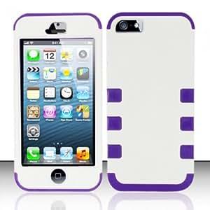 LA Palma Apple iPhone 5 - FUSION Cover PC/TPU - White/Purple