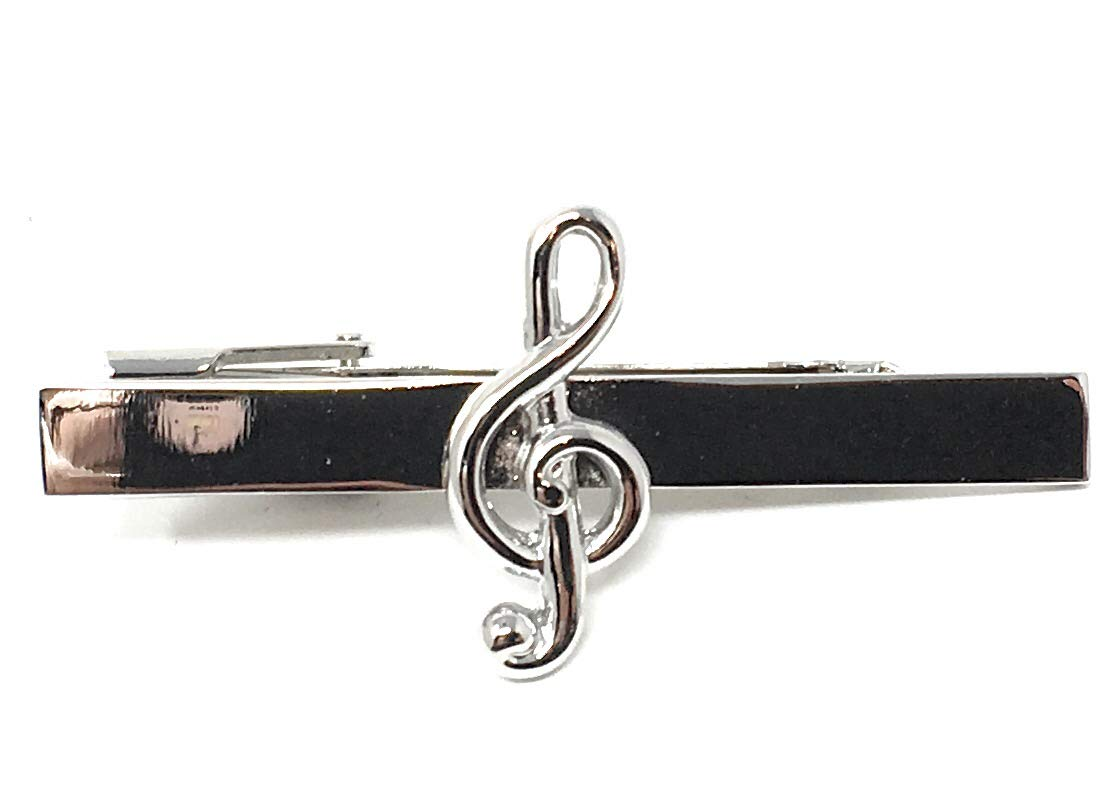 FC Treble Clef Music Tie Pin In A Personalised Gift Box