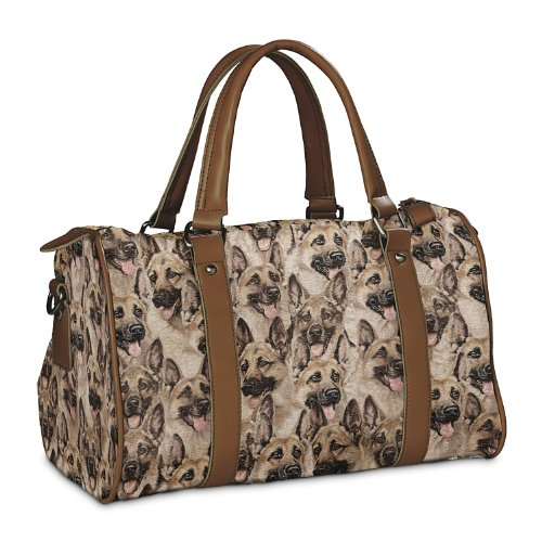 Constant Companion Dog Lovers Cotton Blend Tapestry Handbag: German Shepherd by The Bradford Exchange by Bradford Exchange