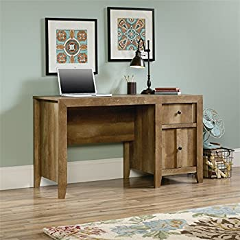 Amazon Com Oak Wood Computer Desk With Chair Cut Out