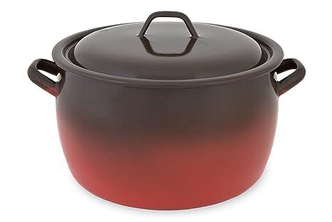 Menax - Olla de Cocina con Tapa - Modelo Fuego en Acero Vitrificado ...