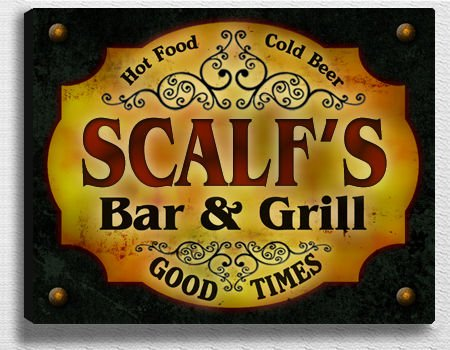 Scalf Family Bar & Grill Stretched Canvas Print