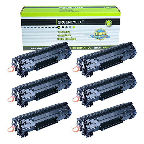 Greencycle 6 PK Compatible Black Laser Toner Cartridges CE278A 78A For HP Laserjet P1606dn P1566