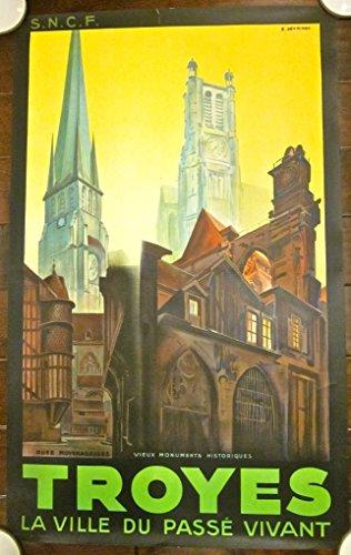 DISCOUNT 125 1930 FRENCH TRAVEL POSTER - RARE COLORFUL R. DEVIGNES ARTWORK