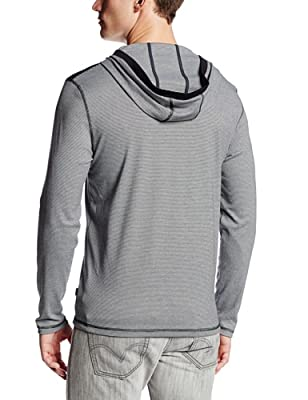 Calvin Klein Men's Long-Sleeve Hoodie On End Liquid Interlock Knit