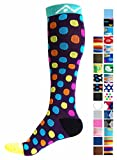 Compression Socks for Women and Men - Urban Dots, Large