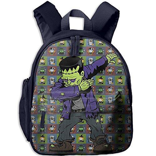 College Funny Halloween Costumes (Dabbing Frankenstein Funny Halloween Monsters For Kids Kids Bags School Backpack Bookbag Child Bags Daypack Shoulder)