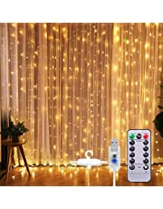 Curtain String Light 300 LED 8 Lighting Modes Fairy Lights Remote Control USB Powered Waterproof Lights