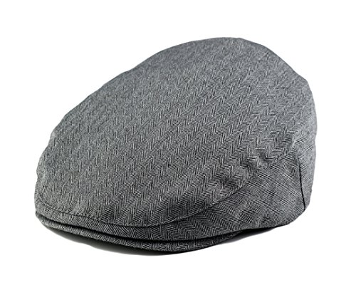 Born to Love - Baby Boy's Hat Grey Herringbone Driver Page Boy Cap NB