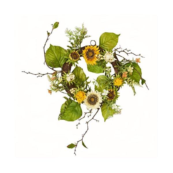 Worth Imports 20″ Sunflower Berry Wreath