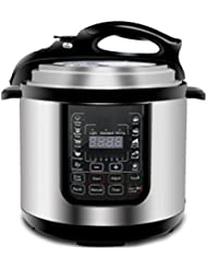 ZENY 6 Qt 14-in-1 Multi- Use Programmable Pressure Cooker Stainless Steel Electric Pressure Cooker 1000W w/LED Display Screen, Rice Cooker, Sauté, Steamer, Slow Cooker, Yogurt Maker & Food Warmer