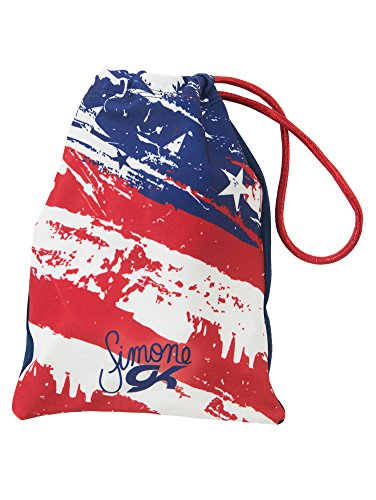 Simone Biles Firecracker Patriotic Design Grip Bag   Red  White   Blue