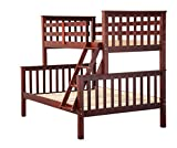 Product review for 100% Solid Wood Mission Twin Over Full Bunk Bed by Palace Imports, Mahogany, 26 Slats Included. Optional Drawers, Trundle, Rail Guard Sold Separately. Requires Assembly.