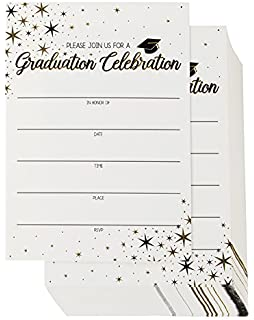 Amazon 2018 graduation party invitations with envelopes 30 60 pack graduation party invitations graduation invitations cards graduation ceremony announcement cards filmwisefo