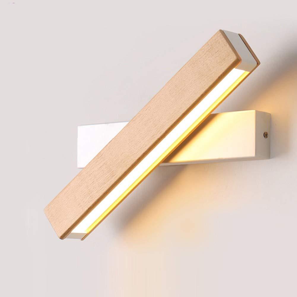 DAKANG Rotierende Wandleuchte, LED Acryl Wandleuchte Moderne Minimalistische Kreative Schlafzimmer Nacht Gang Wandleuchte Lesung Holz Maßerial