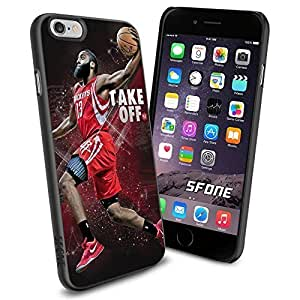 NBA Basketball Player James Edward Harden, Jr. Houston Rockets , Cool iPhone 6 Smartphone Case Cover Collector iphone TPU Rubber Case Black