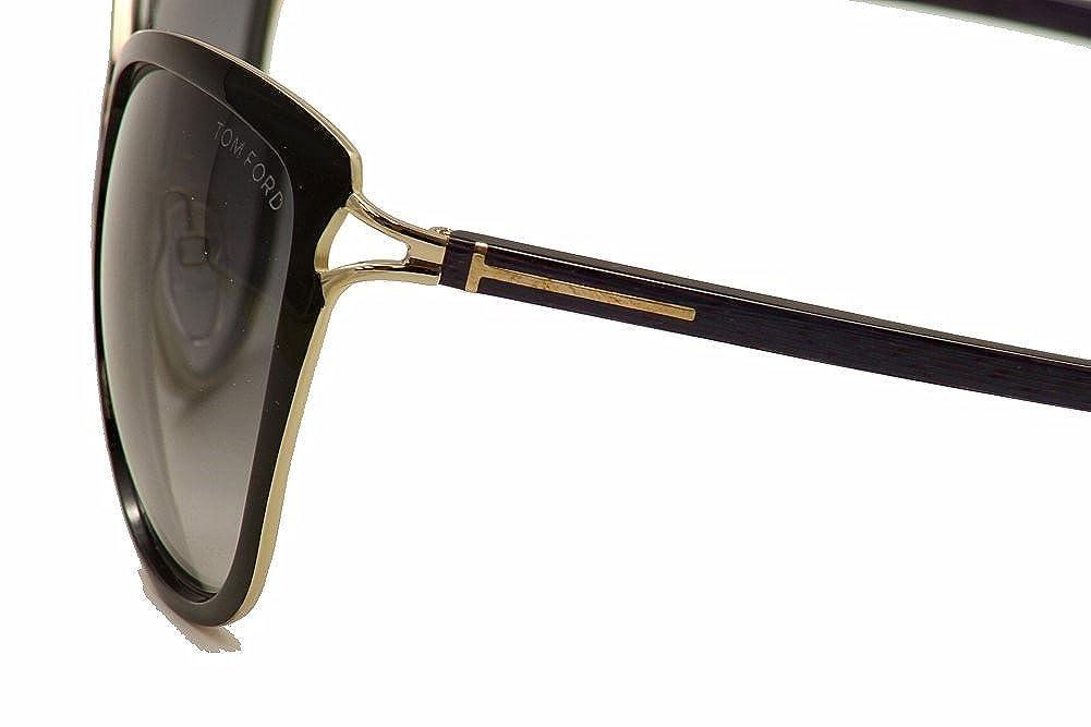 812fa28b85e Amazon.com  Tom Ford Celia FT0322 Sunglasses-32B Black Purple (Gray Gradient  Lens)-59mm  Shoes