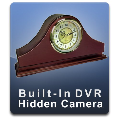 - PalmVID DVR PRO Mantel Clock Hidden Camera with Built-in DVR