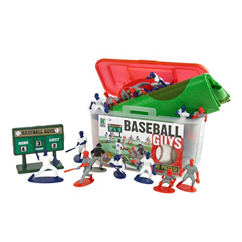 Kaskey Kids Baseball Guys - Inspires Imagination with Open-Ended Play - Includes 2 Full Teams and More - For Ages 3 and Up from Kaskey Kids