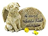 Elaan31 Dog Garden Statue Memorial Angel Pet Antique Stone In Memory Of A Faithful Friend And Companion Review