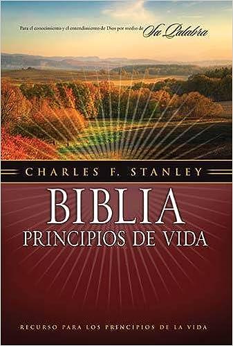 Book Biblia Principios de Vida Charles F. Stanley-RV 1960