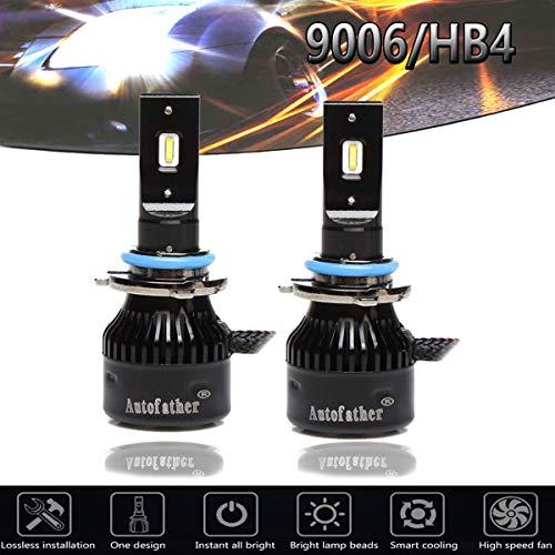 9006 HB4 Car LED Headlight Fog Bulb Conversion Kit, Foglight Bulbs High or Low Single Beam / DRL - 20000 Lumens 6000K Car Lighting Replacement