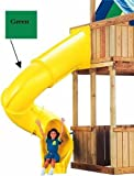 Child Works Ts-84 Tube Slide - Green- 84in.Dh