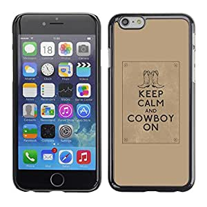 [Neutron-Star] Snap-on Series Teléfono Carcasa Funda Case Caso para Apple (4.7 inches!!!) iPhone 6 / 6S [Cita calma Marrón Texto motivación]
