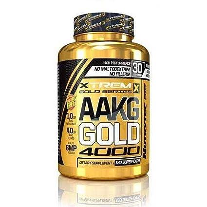 NUTRYTEC SPORT AAKG Gold 4000 XTREM Gold Series 120 Caps ...