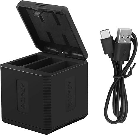 AFAITH Chargeur triple Chargeur Dock Chargeurs de batteries pour casque de rangement pour Batteries GoPro Hero 2018 Hero 5 6 Hero7 Black Hero 8
