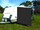 CAMWINGS RV Awning Privacy Screen Shade Panel Kit Side Sunblock Shade Drop 8 x 10ft, Black