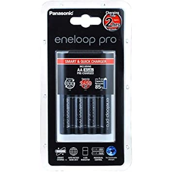 Cargador Panasonic eneloop BQ-CC16 incl. 4 uds. AA eneloop Pro 2500mAh
