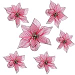 Lumpna-20pcs-Artificial-Poinsettia-Floral-Heads-Artificial-Wedding-Christmas-Flowers-Xmas-Tree-Wreaths-Decor-Ornament-Fake-Hanging-Vine-Swag-Decorative-Pink
