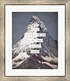 Great Things Never Came From Comfort Zones Strength - Mountain by Color Me Happy Framed Art Print Wall Picture, Silver Scoop Frame, 24 x 28 inches