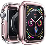 i phone 5 cases and accessories - Penom Case for Apple Watch Screen Protector Series 5 Series 4 44mm, Ultra Thin iWatch 44mm Screen Protector with Full Protection TPU Cover