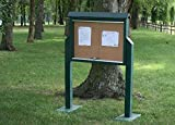 Frog Furnishings Message Center with One Side Two Posts, Medium, Cedar