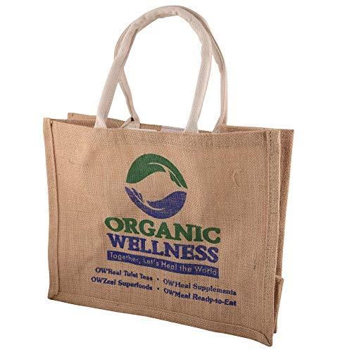 Organic Wellness Jute Shopping Bag   Medium