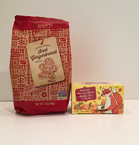 Sprouts Farmers Market Gingerbread Men Frosted Sugar Cookies & Trader Joes