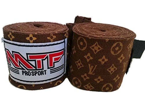 MTF Hand Wraps Muay Thai Boxing MMA K1 Fitness Gear Color Brown Size 180 inches Handwraps for Kickboxing - Muay Thai Wraps